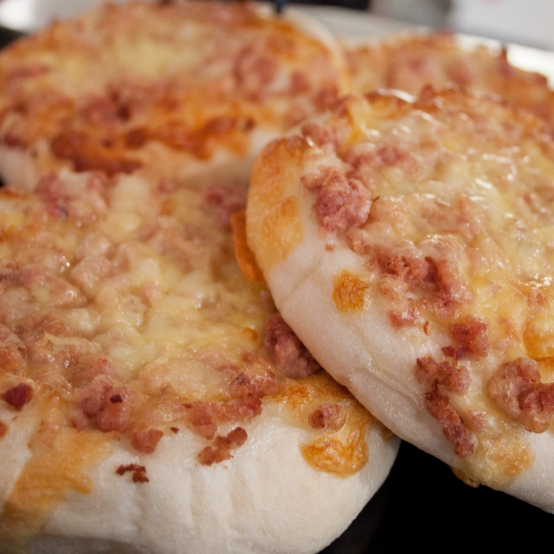 Cheese and bacon