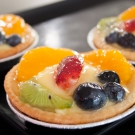small fruit flan